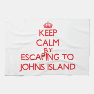 Keep calm by escaping to Johns Island Washington Hand Towel