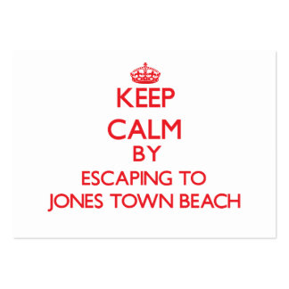 Keep calm by escaping to Jones Town Beach Massachu Pack Of Chubby Business Cards