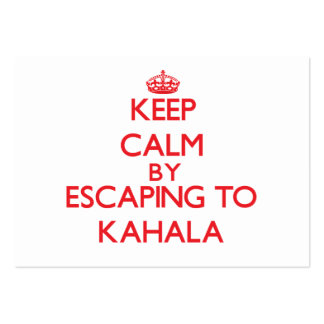 Keep calm by escaping to Kahala Hawaii Business Card Template