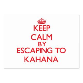 Keep calm by escaping to Kahana Hawaii Business Card Templates