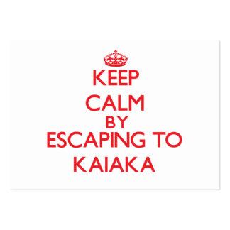 Keep calm by escaping to Kaiaka Hawaii Business Card Template