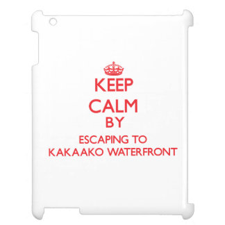 Keep calm by escaping to Kakaako Waterfront Hawaii Case For The iPad 2 3 4