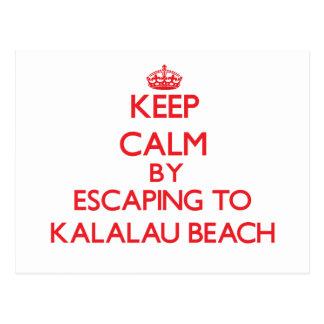 Keep calm by escaping to Kalalau Beach Hawaii Postcard