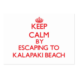 Keep calm by escaping to Kalapaki Beach Hawaii Pack Of Chubby Business Cards