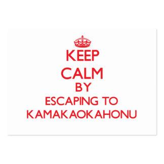 Keep calm by escaping to Kamakaokahonu Hawaii Business Cards