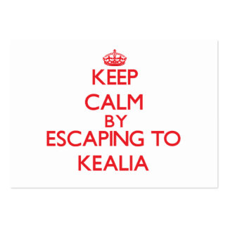 Keep calm by escaping to Kealia Hawaii Business Card Template