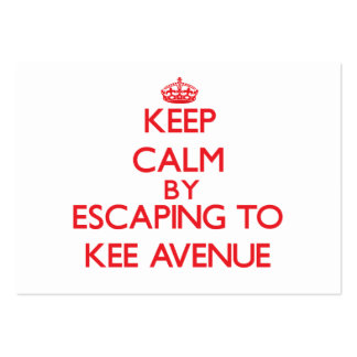 Keep calm by escaping to Kee Avenue Alabama Pack Of Chubby Business Cards