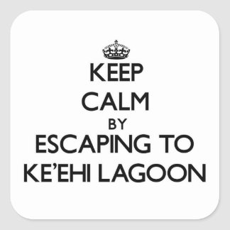 Keep calm by escaping to Ke'Ehi Lagoon Hawaii Stickers