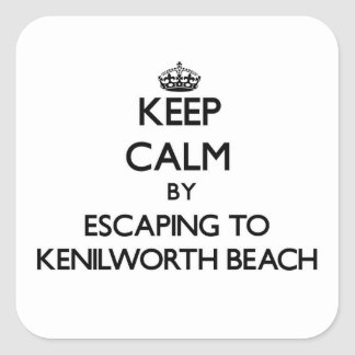 Keep calm by escaping to Kenilworth Beach Illinois Sticker