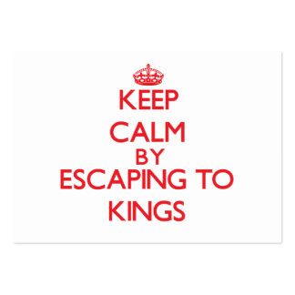 Keep calm by escaping to Kings Massachusetts Business Card Templates