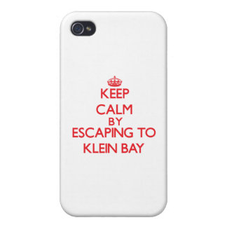 Keep calm by escaping to Klein Bay Virgin Islands iPhone 4 Covers