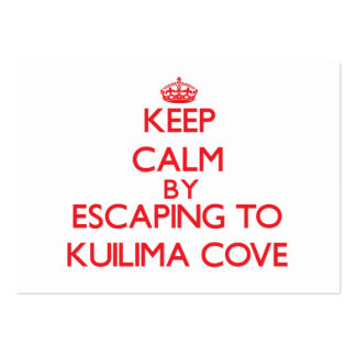 Keep calm by escaping to Kuilima Cove Hawaii Business Cards