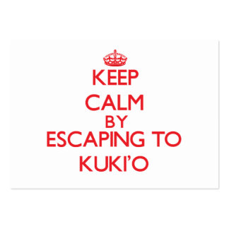 Keep calm by escaping to Kuki'O Hawaii Business Cards
