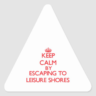 Keep calm by escaping to Leisure Shores Massachuse Sticker