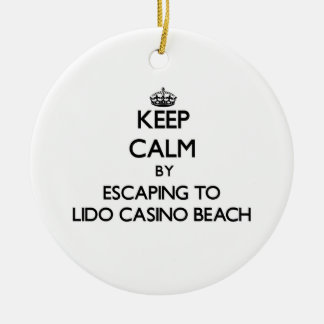 Keep calm by escaping to Lido Casino Beach Florida Christmas Ornaments