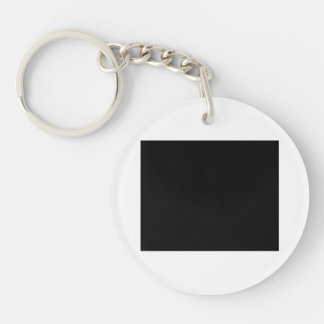 Keep calm by escaping to Lido Casino Beach Florida Single-Sided Round Acrylic Key Ring