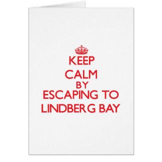 Keep calm by escaping to Lindberg Bay Virgin Islan Greeting Card