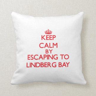 Keep calm by escaping to Lindberg Bay Virgin Islan Pillow