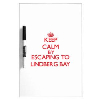 Keep calm by escaping to Lindberg Bay Virgin Islan Dry-Erase Whiteboard