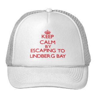 Keep calm by escaping to Lindberg Bay Virgin Islan Mesh Hats