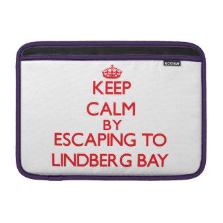 Keep calm by escaping to Lindberg Bay Virgin Islan MacBook Sleeve
