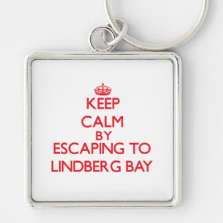 Keep calm by escaping to Lindberg Bay Virgin Islan Keychains