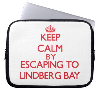Keep calm by escaping to Lindberg Bay Virgin Islan Computer Sleeve