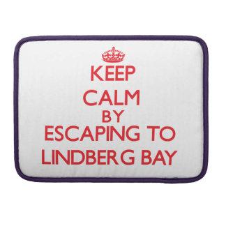 Keep calm by escaping to Lindberg Bay Virgin Islan MacBook Pro Sleeve