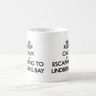 Keep calm by escaping to Lindberg Bay Virgin Islan Coffee Mugs
