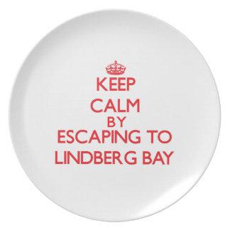 Keep calm by escaping to Lindberg Bay Virgin Islan Plate
