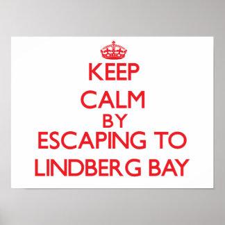 Keep calm by escaping to Lindberg Bay Virgin Islan Print