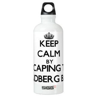Keep calm by escaping to Lindberg Bay Virgin Islan SIGG Traveler 0.6L Water Bottle