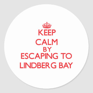 Keep calm by escaping to Lindberg Bay Virgin Islan Round Sticker