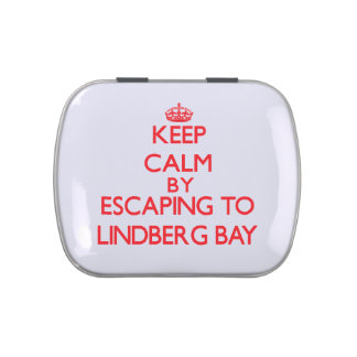 Keep calm by escaping to Lindberg Bay Virgin Islan Jelly Belly Candy Tin