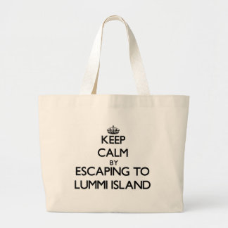 Keep calm by escaping to Lummi Island Washington Tote Bag