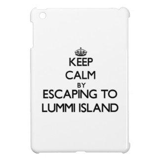 Keep calm by escaping to Lummi Island Washington iPad Mini Cases