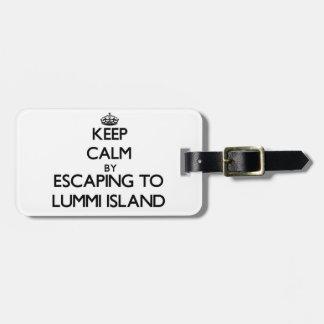 Keep calm by escaping to Lummi Island Washington Luggage Tags