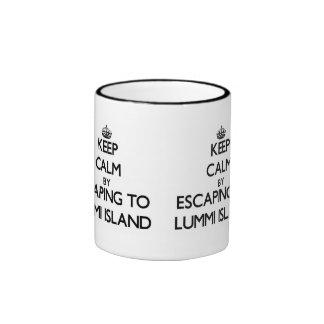 Keep calm by escaping to Lummi Island Washington Coffee Mugs