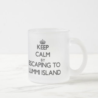 Keep calm by escaping to Lummi Island Washington 10 Oz Frosted Glass Coffee Mug