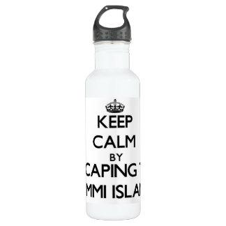 Keep calm by escaping to Lummi Island Washington 710 Ml Water Bottle