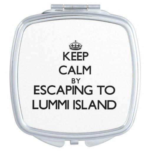 Keep calm by escaping to Lummi Island Washington Makeup Mirrors