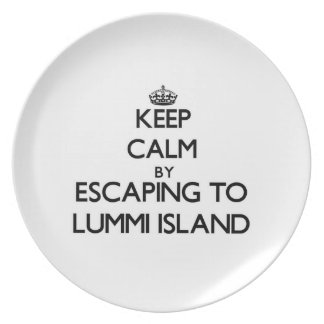 Keep calm by escaping to Lummi Island Washington Party Plate