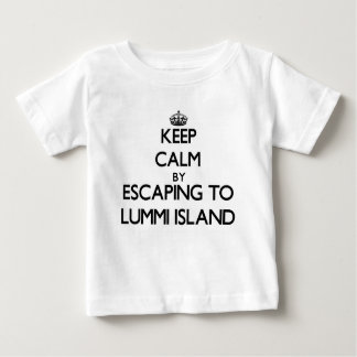 Keep calm by escaping to Lummi Island Washington T-shirts