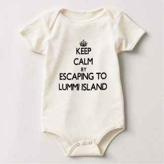 Keep calm by escaping to Lummi Island Washington Bodysuit