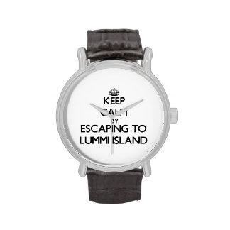 Keep calm by escaping to Lummi Island Washington Watches