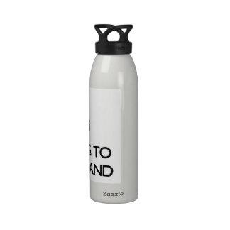 Keep calm by escaping to Lummi Island Washington Water Bottles