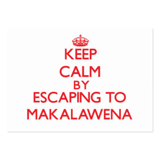 Keep calm by escaping to Makalawena Hawaii Business Cards