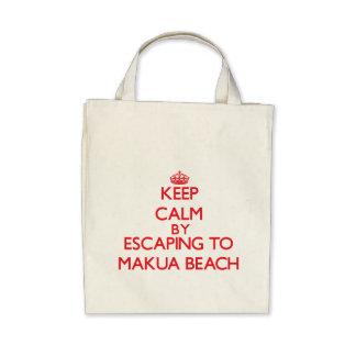 Keep calm by escaping to Makua Beach Hawaii Bag