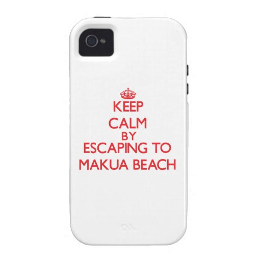 Keep calm by escaping to Makua Beach Hawaii iPhone 4/4S Covers
