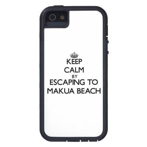 Keep calm by escaping to Makua Beach Hawaii iPhone 5 Case